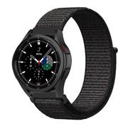 Strap-it® Samsung Galaxy Watch 4 Classic nylon band (zwart)