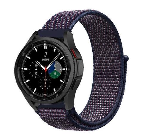 Strap-it® Strap-it® Samsung Galaxy Watch 4 Classic nylon band (paars/blauw)
