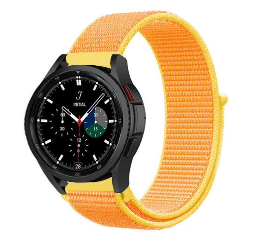 Strap-it® Samsung Galaxy Watch 4 Classic nylon band (lichtgeel)