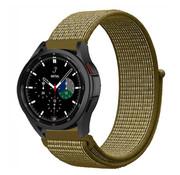 Strap-it® Samsung Galaxy Watch 4 Classic nylon band (olijf)
