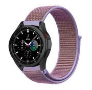 Strap-it® Samsung Galaxy Watch 4 Classic nylon band (lila)