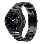 Strap-it® Samsung Galaxy Watch 4 Classic stalen band (zwart)