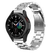 Strap-it® Samsung Galaxy Watch 4 Classic stalen band (zilver)