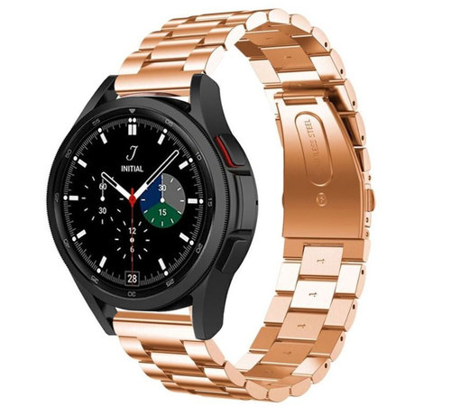Strap-it® Strap-it® Samsung Galaxy Watch 4 Classic stalen band (rosé goud)