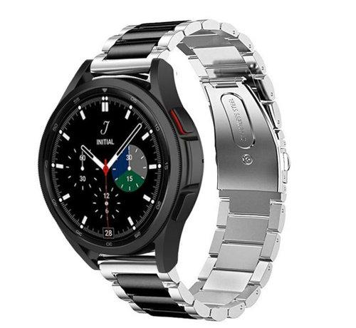 Strap-it® Strap-it® Samsung Galaxy Watch 4 Classic stalen band (zilver/zwart)