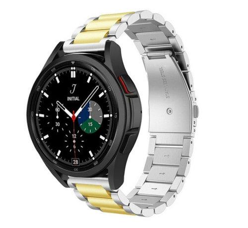 Strap-it® Strap-it® Samsung Galaxy Watch 4 Classic stalen band (zilver/goud)