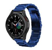 Strap-it® Samsung Galaxy Watch 4 Classic stalen band (blauw)