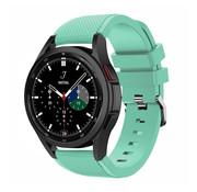 Strap-it® Samsung Galaxy Watch 4 Classic 46mm siliconen bandje (aqua)