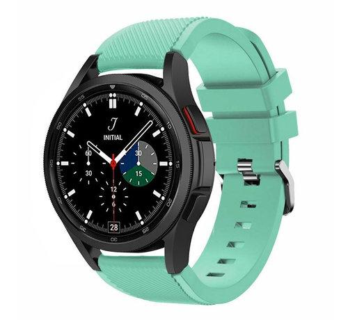 Strap-it® Strap-it Samsung Galaxy Watch 4 Classic 46mm siliconen bandje (aqua)