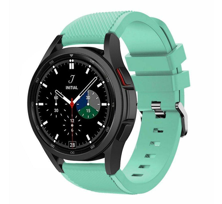Strap-it Samsung Galaxy Watch 4 Classic 46mm siliconen bandje (aqua)