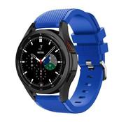 Strap-it® Samsung Galaxy Watch 4 Classic 46mm siliconen bandje (blauw)