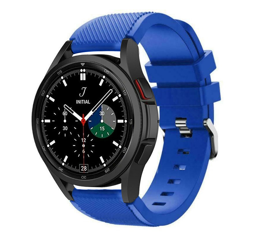 Strap-it Samsung Galaxy Watch 4 Classic 46mm siliconen bandje (blauw)