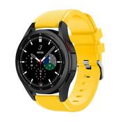 Strap-it® Samsung Galaxy Watch 4 Classic 46mm siliconen bandje (geel)