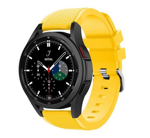 Strap-it® Strap-it Samsung Galaxy Watch 4 Classic 46mm siliconen bandje (geel)