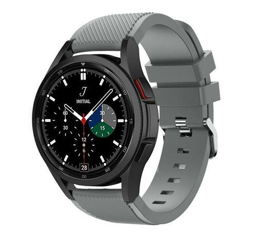 Strap-it® Strap-it Samsung Galaxy Watch 4 Classic 46mm siliconen bandje (grijs)