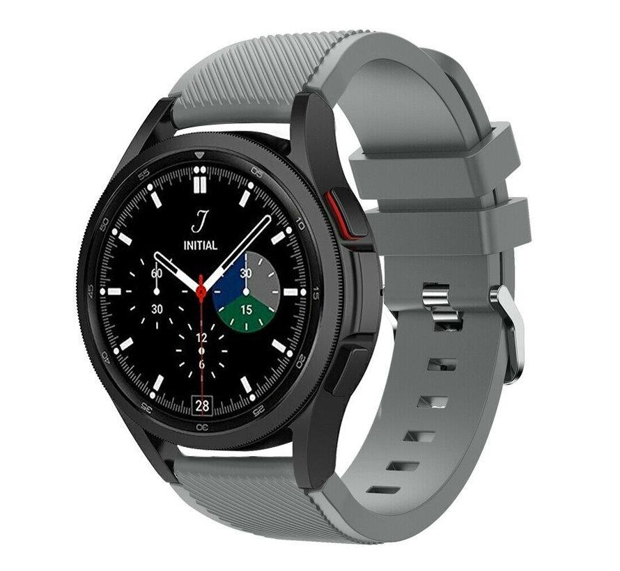 Strap-it Samsung Galaxy Watch 4 Classic 46mm siliconen bandje (grijs)