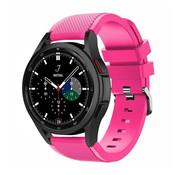 Strap-it® Samsung Galaxy Watch 4 Classic 46mm siliconen bandje (knalroze)