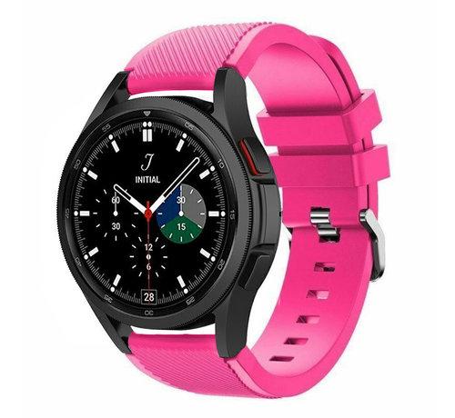 Strap-it® Strap-it Samsung Galaxy Watch 4 Classic 46mm siliconen bandje (knalroze)