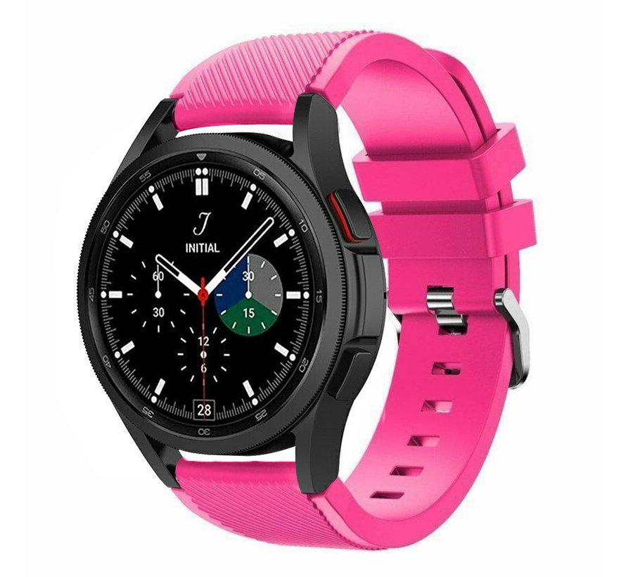 Strap-it Samsung Galaxy Watch 4 Classic 46mm siliconen bandje (knalroze)
