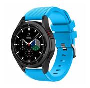 Strap-it® Samsung Galaxy Watch 4 Classic 46mm siliconen bandje (lichtblauw)
