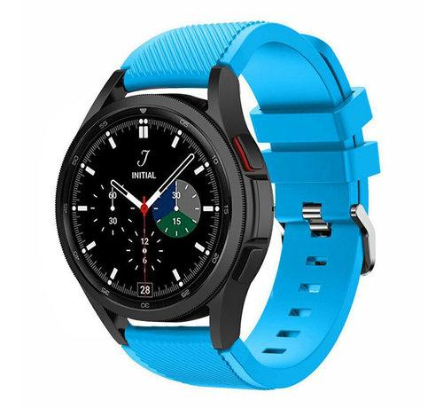 Strap-it® Strap-it Samsung Galaxy Watch 4 Classic 46mm siliconen bandje (lichtblauw)