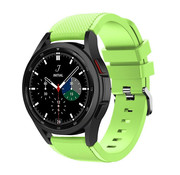 Strap-it® Samsung Galaxy Watch 4 Classic 46mm siliconen bandje (lichtgroen)