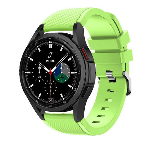 Strap-it® Strap-it Samsung Galaxy Watch 4 Classic 46mm siliconen bandje (lichtgroen)