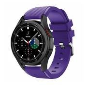 Strap-it® Samsung Galaxy Watch 4 Classic 46mm siliconen bandje (paars)