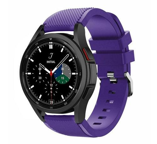 Strap-it® Strap-it Samsung Galaxy Watch 4 Classic 46mm siliconen bandje (paars)