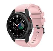 Strap-it® Samsung Galaxy Watch 4 Classic 46mm siliconen bandje (roze)