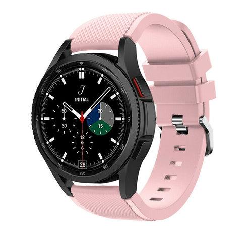 Strap-it® Strap-it Samsung Galaxy Watch 4 Classic 46mm siliconen bandje (roze)