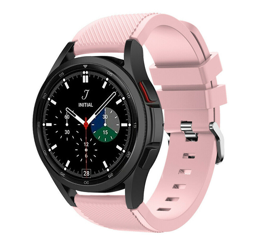 Strap-it Samsung Galaxy Watch 4 Classic 46mm siliconen bandje (roze)