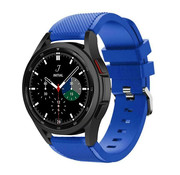 Strap-it® Samsung Galaxy Watch 4 Classic 42mm siliconen bandje (blauw)