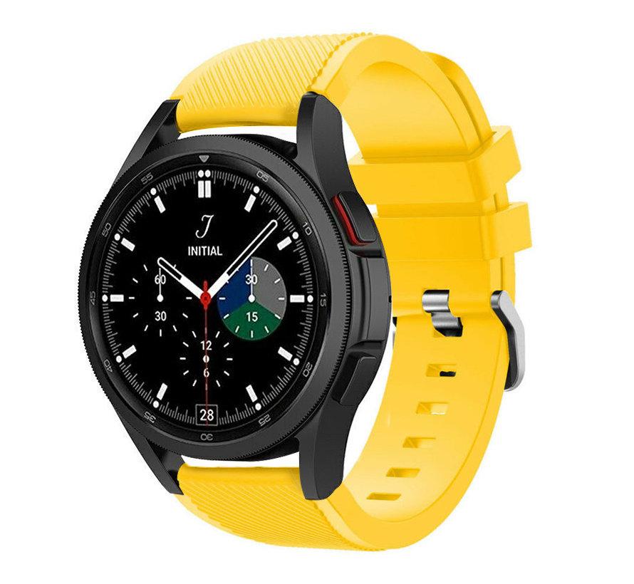Strap-it Samsung Galaxy Watch 4 Classic 42mm siliconen bandje (geel)