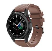 Strap-it® Samsung Galaxy Watch 4 Classic 42mm siliconen bandje (koffiebruin)