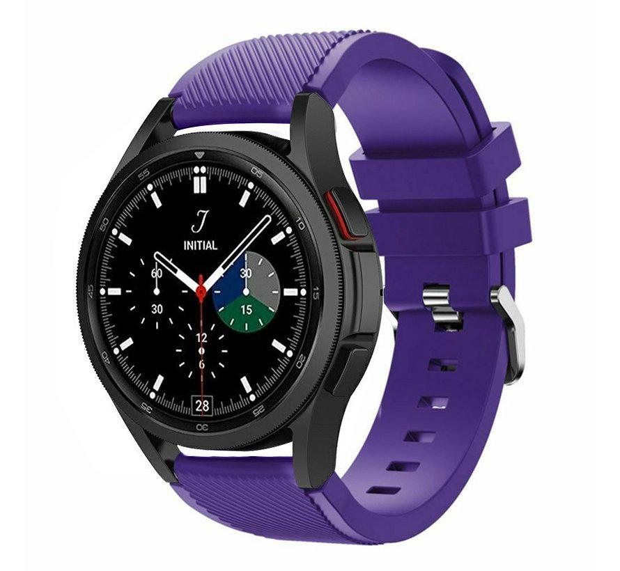 Strap-it Samsung Galaxy Watch 4 Classic 42mm siliconen bandje (paars)