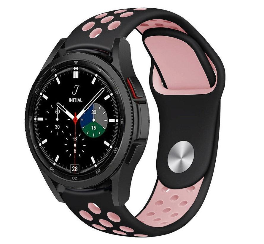 Strap-it® Samsung Galaxy Watch 4 Classic sport band (zwart/roze)