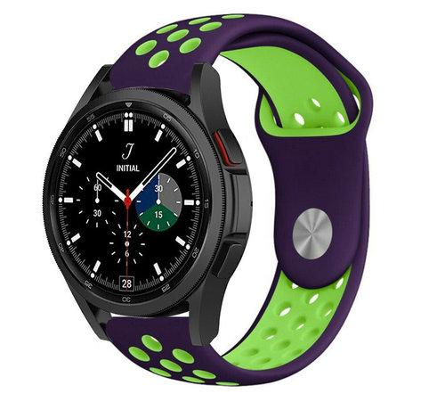 Strap-it® Strap-it® Samsung Galaxy Watch 4 Classic sport band (paars/groen)