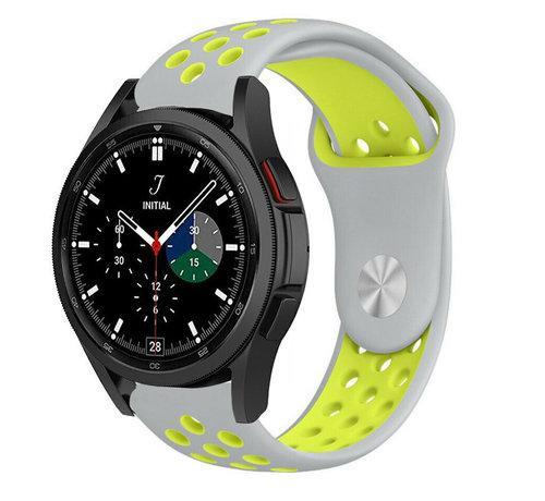 Strap-it® Strap-it® Samsung Galaxy Watch 4 Classic sport band (grijs/geel)