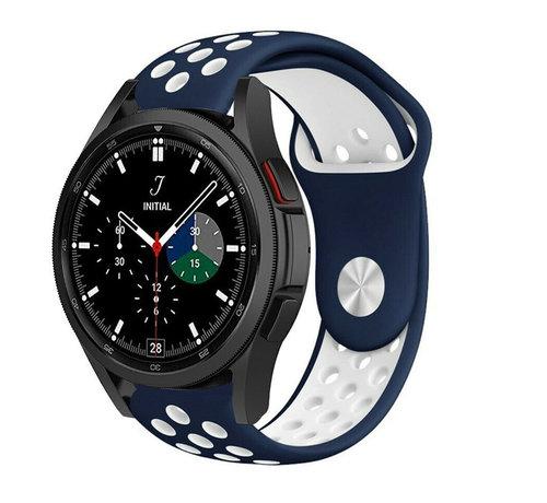 Strap-it® Strap-it® Samsung Galaxy Watch 4 Classic sport band (blauw/wit)