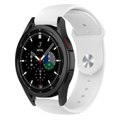 Strap-it® Samsung Galaxy Watch 4 Classic sport band (wit)