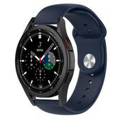 Strap-it® Samsung Galaxy Watch 4 Classic sport band (donkerblauw)