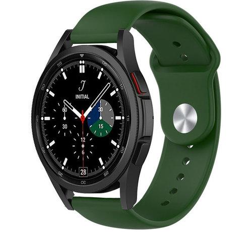 Strap-it® Strap-it® Samsung Galaxy Watch 4 Classic sport band (legergroen)