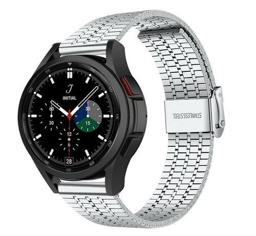 Strap-it® Strap-it® Samsung Galaxy Watch 4 Classic roestvrij stalen band (zilver)