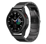 Strap-it® Samsung Galaxy Watch 4 Classic metalen bandje (zwart)