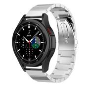 Strap-it® Samsung Galaxy Watch 4 Classic metalen bandje (zilver)