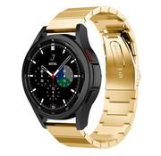Strap-it® Samsung Galaxy Watch 4 Classic metalen bandje (goud)