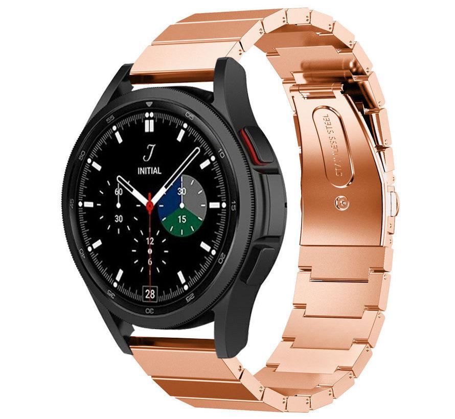 Strap-it® Samsung Galaxy Watch 4 Classic metalen bandje (rosé goud)