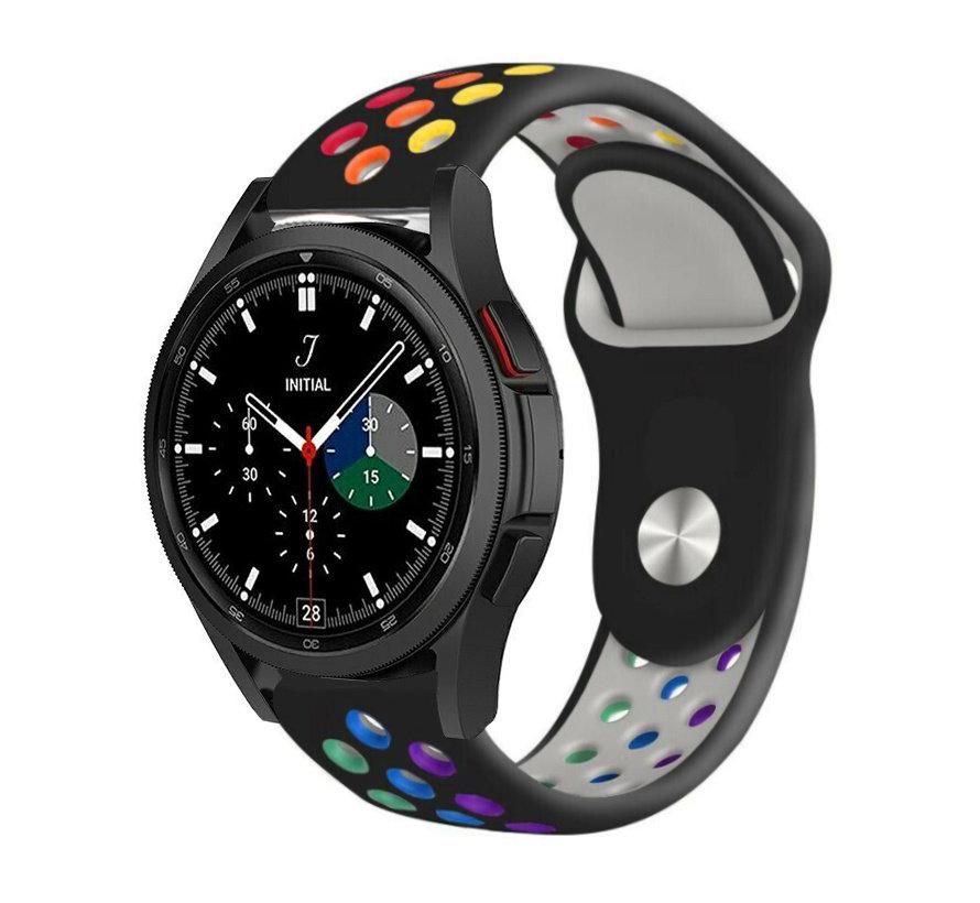 Strap-it® Samsung Galaxy Watch 4 Classic sport band (zwart/kleurrijk)