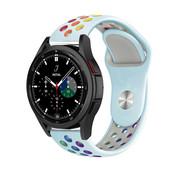 Strap-it® Samsung Galaxy Watch 4 Classic sport band (lichtblauw/kleurrijk)
